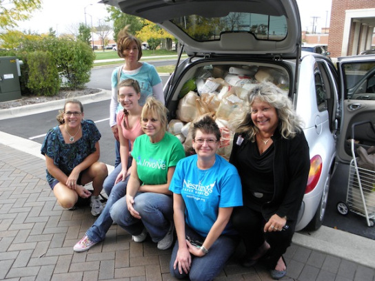 Women's Service Day crew helps Nestlings
