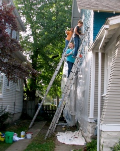 Women's Service Day painting crew