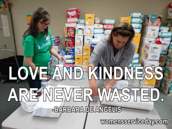Love and kindness are never wasted. - Barbara DeAngelis