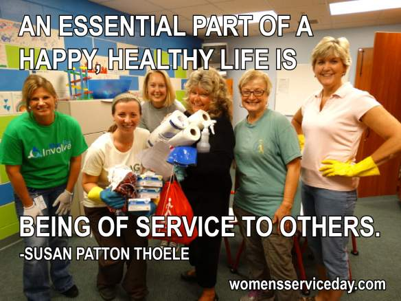 An essential part of a happy, healthy life is being of service to others. - Susan Patton Thoele