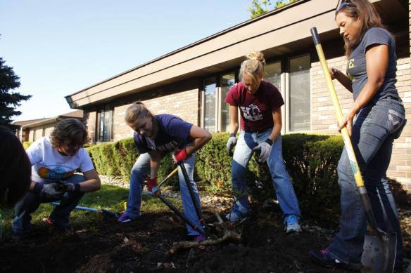 Landscaping renovation at Pathways MI